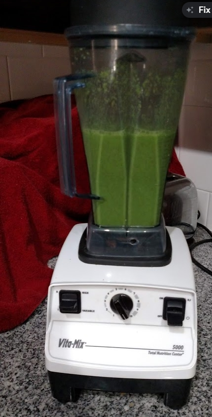 Green Drink on Vitamix After Mixing