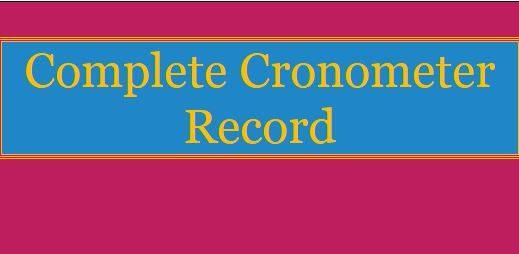Complete Cronometer Record