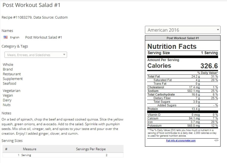 Post-Workout Salad Recipe