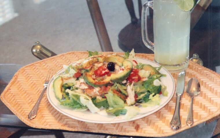 Southwest Chicken Salad with Lime Drink